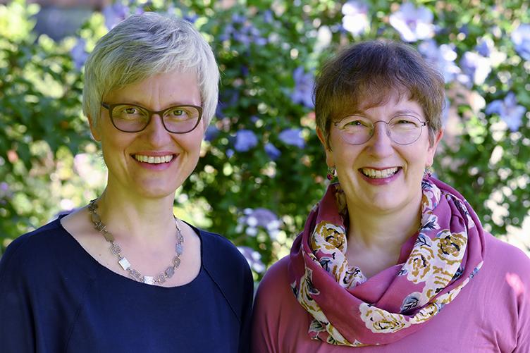 Stina Steiner-Sondheimer und  Claudia Hermann-Denzler von der Kinderlogopädie Uster, Logopädie für Kinder im Frühbereich